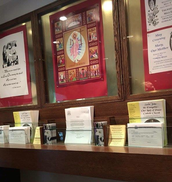 Letters from Cardinal Dolan on display
