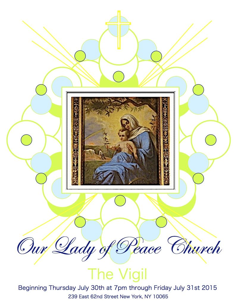 Our Lady of Peace Vigil Program Cover