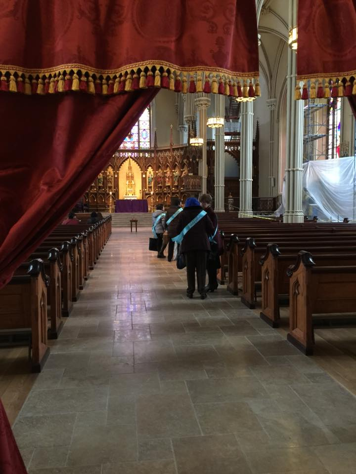 8-Filing into the sanctuary